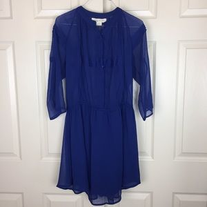 Staring At Stars Tunic Dress Sheer Button Down Top